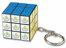 Custom imprinted Micro Rubik's Cube Key Holder