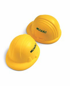 Custom imprinted Hard Hat Stress Ball
