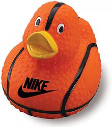 Custom imprinted Basketball Duck