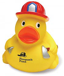 Custom imprinted Fireman Duck