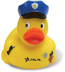 Custom imprinted Policeman Duck