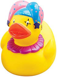Custom imprinted CLOSEOUT Court Jester Duck