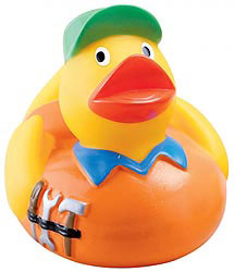Custom imprinted Handyman Duck