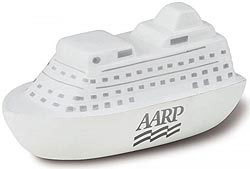 Custom imprinted Cruise Ship Stress Reliever