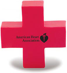 Custom imprinted Red Cross Stress Reliever