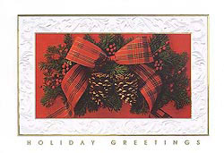 Custom imprinted Holiday Greeting Card - Traditional Elegance