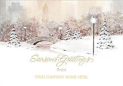 Custom imprinted Holiday Greeting Card - Holiday Cityscape
