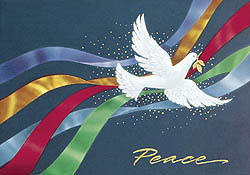 Custom imprinted Holiday Greeting Card - A Celebration of Peace