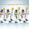 Holiday Greeting Card - Dancing Snowmen