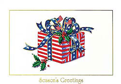 Custom imprinted Holiday Greeting Card - A Patriotic Holiday