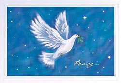 Custom imprinted Holiday Greeting Card - Vision of Peace