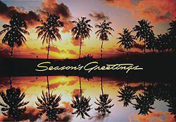 Custom imprinted Holiday Greeting Card - Palm Trees