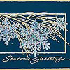 Holiday Greeting Card - Glistening Snowflakes