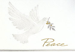 Custom imprinted Holiday Greeting Card - Elegant Dove