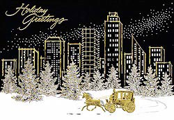 Custom imprinted Holiday Greeting Card - Holiday City