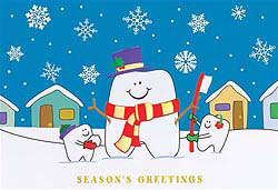 Custom imprinted Holiday Greeting Card - Dentist Smile
