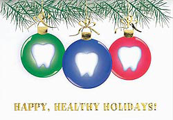 Custom imprinted Holiday Greeting Card - Dentist Ornaments