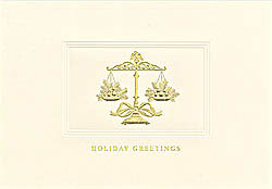 Custom imprinted Holiday Greeting Card - Legal Scales in Balance
