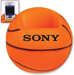 Custom imprinted Basketball Cell Phone/Remote Control Holder