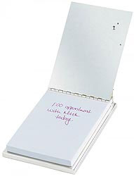 Custom imprinted CLOSEOUT Silver Plated Golf Note Pad