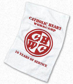 Custom imprinted Spirit Towel - White Terry Towel
