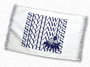 Custom imprinted Spirit Towel - White Velour Towel