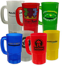 Custom imprinted 22 oz Plastic Stein