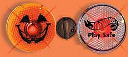 Custom imprinted Halloween Saftey Strobe Light