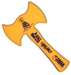 Custom imprinted Foam Double Blade Axe