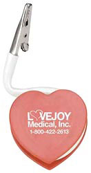 Custom imprinted Flexi - Heart Clip