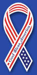 Custom imprinted Patriotic Awareness Ribbon - God Bless America