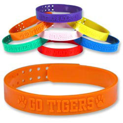 Custom imprinted Embossed Custom Wristbands