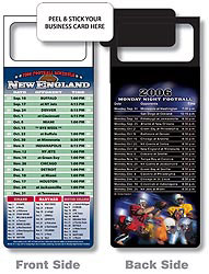 Custom imprinted Magnetic NFL Football Schedule NewEngland Patriots