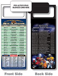 Custom imprinted Magnetic NFL Football Schedule - St Louis Rams