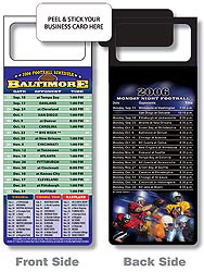 Custom imprinted Magnetic NFL Football Schedule - Baltimore Ravens