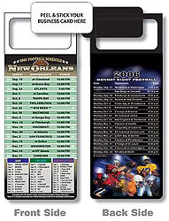 Custom imprinted Magnetic NFL Football Schedule New Orleans Saints