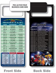 Custom imprinted Magnetic NFL Football Schedule - Seattle Seahawks