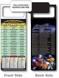 Custom imprinted Magnetic NFL Football Schedule Pittsburg Steelers