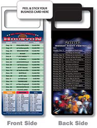 Custom imprinted Magnetic NFL Football Schedule - Houston Texans