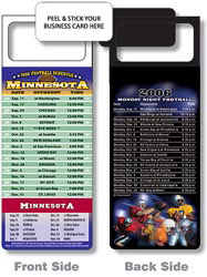 Custom imprinted Magnetic NFL Football Schedule - Minnesota Vikings