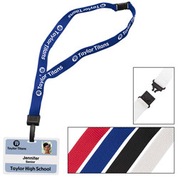 Custom imprinted 3/4 Inch Breakaway Lanyard