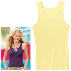 Custom imprinted District Threads Ladies Tank
