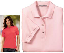 Custom imprinted Port Authority® - Ladies Silk Touch Sport Shirt