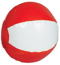 Custom imprinted 2 Tone Beach Ball - 6 Inch