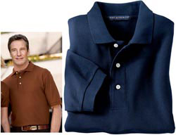 Custom imprinted Port Authority - 100% Pima Cotton Sport Shirt