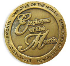 Custom imprinted Employee of the Month Pin