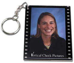 Custom imprinted Filmstrip Frame Keytag