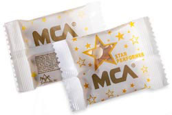Custom imprinted M&M's Star Performer Theme Pack - 1 oz
