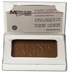 Custom imprinted Thank You Business Card Box