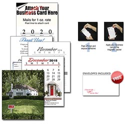 Promotional real estate calendars imprinted real estate calendars 13 month realtor business card calendar w cover reheart Choice Image